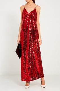 Красное платье с пайетками ЛИ ЛУ