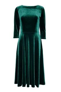Зеленое бархатное платье ЛИ ЛУ