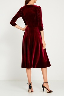 Бордовое платье из бархата ЛИ ЛУ