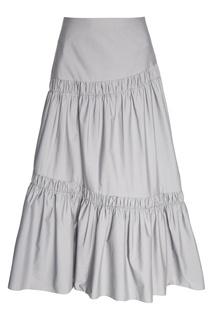 Серая юбка с драпировками Biryukov