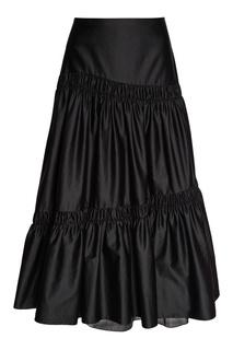 Черная юбка с драпировками Biryukov