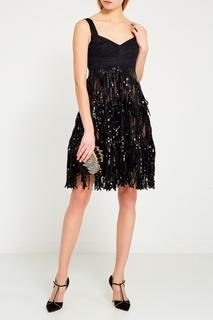 Черное платье с пайетками Dolce & Gabbana