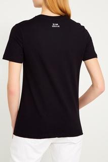 Черная футболка с контурным принтом Etre Cecile