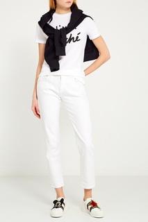 Белая футболка с надписью Etre Cecile