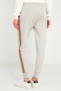 Серые брюки с разноцветными лампасами Etre Cecile