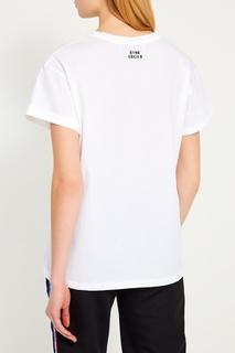 Белая футболка с контурным принтом Etre Cecile