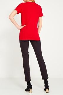 Красная футболка с принтом Nil&Mon