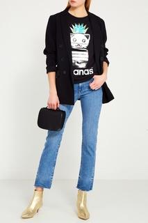 Черная футболка с ламинированными нашивками Nil&Mon