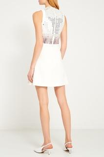 Белое платье с пайетками David Koma