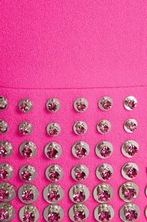 Шерстяное розовое платье David Koma