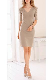 Полуприлегающее платье с короткими рукавами MARCA-M