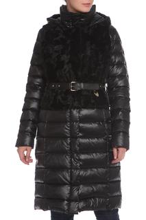 Полуприлегающее пальто с натуральным мехом Acasta