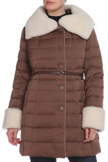 Полуприлегающее пальто с ремнем La Reine Blanche