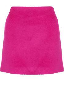 Однотонная шерстяная мини-юбка Helmut Lang