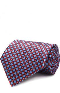 Шелковый галстук с принтом Ermenegildo Zegna