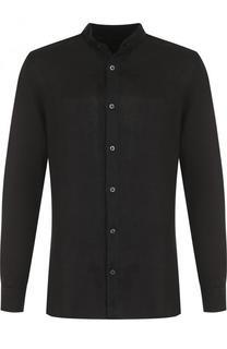 Льняная рубашка с воротником-стойкой 120% Lino