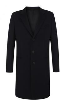 Однобортное кашемировое пальто Giorgio Armani