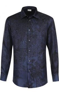 Шелковая сорочка с принтом Brioni