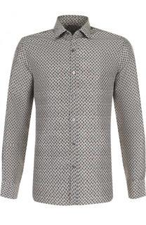 Шелковая рубашка с принтом Lanvin