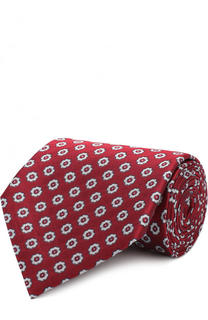 Шелковый галстук с узором Z Zegna
