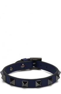 Кожаный браслет Rockstud Valentino