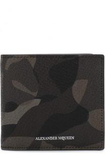 Кожаное портмоне с отделениями для кредитных карт Alexander McQueen