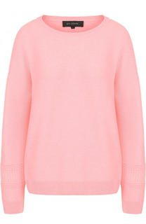 Кашемировый пуловер с круглым вырезом St. John