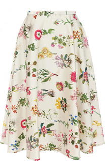 Юбка-миди с ярким цветочным принтом No. 21