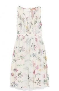 Хлопковое платье-миди с цветочным принтом No. 21