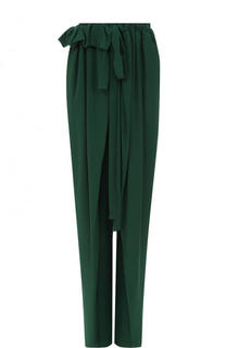 Однотонные шелковые брюки с оборками Stella McCartney