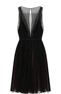 Приталенное мини-платье без рукавов No. 21