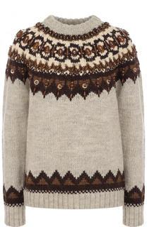 Шерстяной пуловер с контрастной отделкой Polo Ralph Lauren