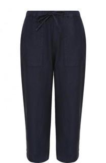 Укороченные льняные брюки с эластичным поясом 120% Lino