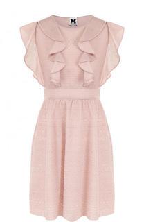 Приталенное мини-платье с оборками M Missoni
