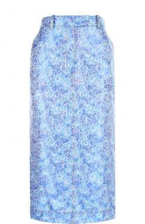 Жаккардовая юбка-карандаш с карманами CALVIN KLEIN 205W39NYC