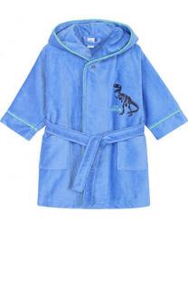 Хлопковый халат с капюшоном и поясом Sanetta