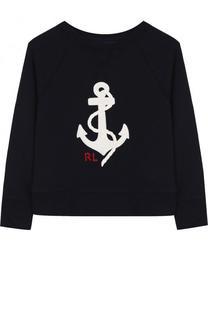 Хлопковый свитшот с вышивкой Polo Ralph Lauren