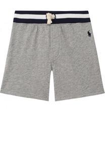 Хлопковые шорты с контрастной отделкой Polo Ralph Lauren