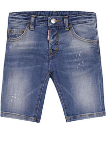 Джинсовые шорты с декоративными потертостями Dsquared2