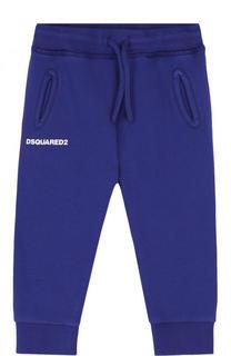 Хлопковые джоггеры с логотипом бренда Dsquared2