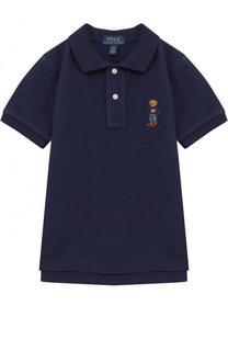 Хлопковое поло с вышивкой Polo Ralph Lauren