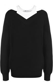 Шерстяной пуловер свободного кроя T by Alexander Wang