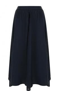 Однотонная льняная юбка-миди 120% Lino