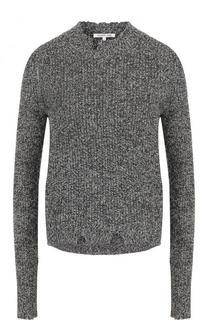 Пуловер фактурной вязки с круглым вырезом и длинным рукавом Helmut Lang