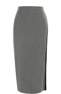 Однотонная вязаная юбка-карандаш DKNY
