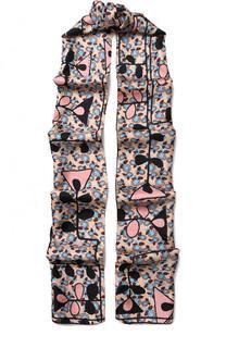 Шелковый шарф с принтом Marni