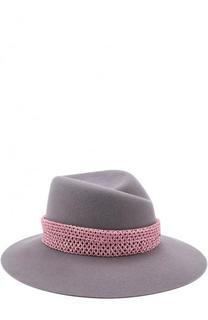 Фетровая шляпа Virginie с декоративной лентой Maison Michel