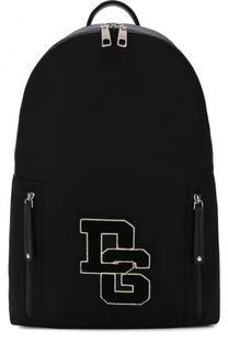 Текстильный рюкзак с отделкой Dolce & Gabbana