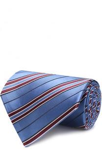 Шелковый галстук в полоску Z Zegna