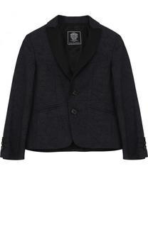 Однобортный пиджак из смеси хлопка и шерсти Dal Lago